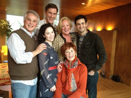 Our fearless leader and some of the cast...full of turkey, wine and sweets.