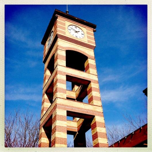 close up clock tower