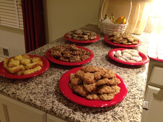 cookies on table