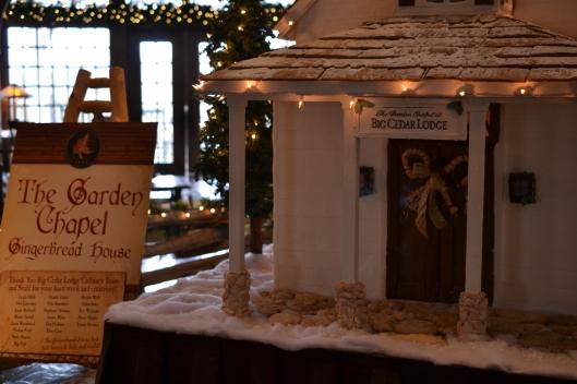 gingerbread chapel close up