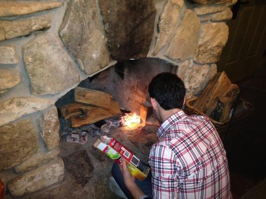 jurg starting a fire