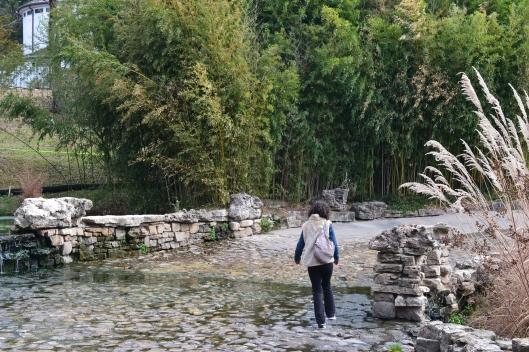 me walking through stream