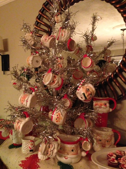 A tree of Santa Mugs...every party needs one.