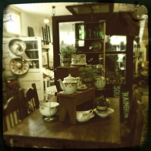 inside antique store