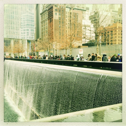 Taking in the 9/11 Memorial...hard to believe it's been over twelve years