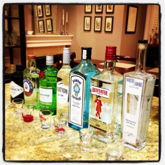 A little Saturday evening Gin tasting. Like ya' do.