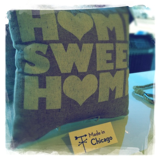 A sweet pillow Made in Chicago (list item #3...entry forthcoming)