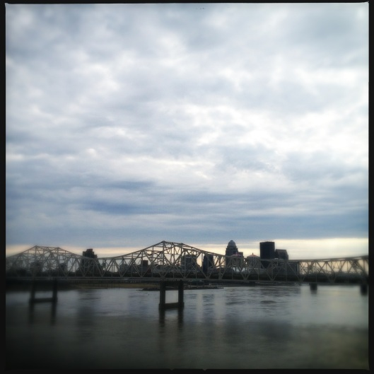 Louisville from a bridge
