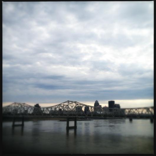 Louisville from a bridge