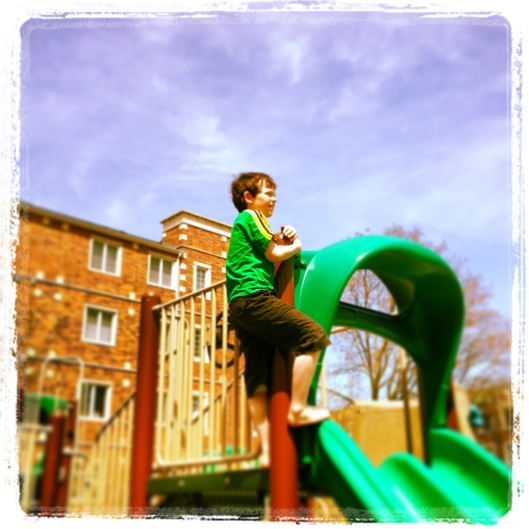 Where there is sunshine and playgrounds you will find happy children (and babysitters)